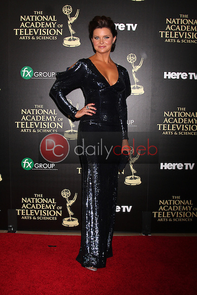 LOS ANGELES - JUN 22:  Heather Tom at the 2014 Daytime Emmy Awards Arrivals at the Beverly Hilton Hotel on June 22, 2014 in Beverly Hills, CA