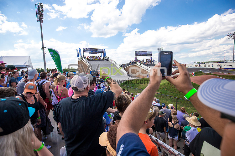 Picture by Alex Whitehead/SWpix.com - 29/07/2017 - Cycling - 2017 UCI BMX World Championships - Novant Health BMX Supercross Track, Rock Hill, USA - Brief. fans, supporters, crowd.