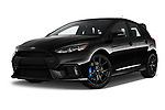 Stock pictures of low aggressive front three quarter view of 2017 Ford Focus RS 5 Door Hatchback Low Aggressive