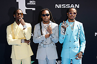 LOS ANGELES, CALIFORNIA - JUNE 23: Offset, Takeoff and Quavo of Migos attend the 2019 BET Awards on June 23, 2019 in Los Angeles, California. Photo: imageSPACE/MediaPunch