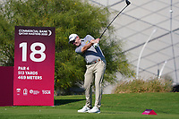 Stephen Gallacher (SCO) on the 18th during Round 1 of the Commercial Bank Qatar Masters 2020 at the Education City Golf Club, Doha, Qatar . 05/03/2020<br /> Picture: Golffile | Thos Caffrey<br /> <br /> <br /> All photo usage must carry mandatory copyright credit (© Golffile | Thos Caffrey)
