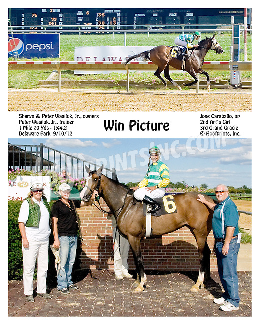 Win Picture winning at Delaware Park on 9/10/12