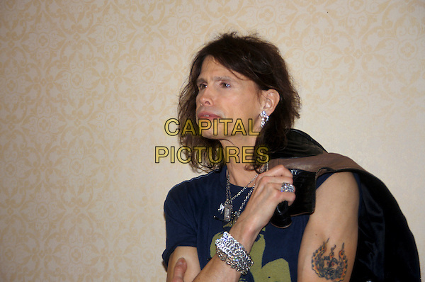 STEVEN TYLER.March 2005.half length earrings tattoo bracelet rings necklaces jewellery.www.capitalpictures.com.sales@capitalpictures.com.© Capital Pictures.