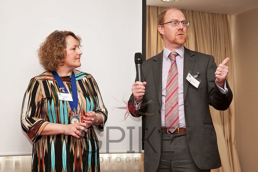 Alastair Cunningham from the Bank of England with club President Deborah Labbate of STAR Coaching