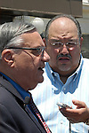 AJ Alexander - Sheriff Joe Arpaio at a Press Confrence, where he conducted a Raid at the Old Spaghetti Factory answering Carlos Galindo's hard ball question's in downtown Phoenix, AZ. .Photo by AJ Alexander