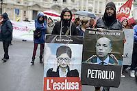 Roma, 2 Febbraio 2013.Manifestazione contro i tagli alla scuola e sanità pubblica..il Coordinamento delle scuole per:scuola, sanità, beni pubblici.