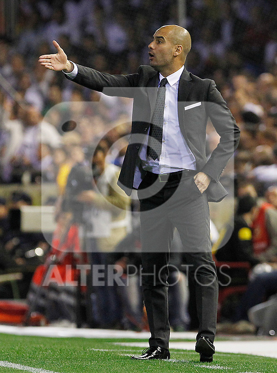 FC Barcelona's coach coach Pep Guardiola during King's Cup 2001 Final match.April 20,2011. (ALTERPHOTOS/Acero)