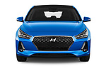 Car photography straight front view of a 2017 Hyundai i30 Luxury-Launch-Edition 5 Door Hatchback Front View