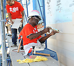 Glynn Turman at the Habitat For Humanity With Stars From Shamless and House Of Lies help build homes in Los Angeles, CA. October 25, 2014.
