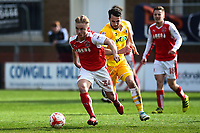 Fleetwood Town's Kyle Dempsey in action<br /> <br /> Photographer Richard Martin-Roberts/CameraSport<br /> <br /> The EFL Sky Bet League One - Fleetwood Town v Millwall - Monday 17th April 2017 - Highbury Stadium - Fleetwood<br /> <br /> World Copyright &copy; 2017 CameraSport. All rights reserved. 43 Linden Ave. Countesthorpe. Leicester. England. LE8 5PG - Tel: +44 (0) 116 277 4147 - admin@camerasport.com - www.camerasport.com