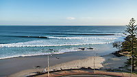 Coolangatta, Queensland, Australia.(Sunday, January 24, 2016): It was looking very good this morning with a clean and straight swell  from the East courtesy of Cyclone Victor. The surf was  in the 3ft up to 5ft range on the sets with light SSW winds early. They're forecast to go SSE, then unfortunately ESE later. High tide is at 8.15am with low at 2.30pm. The points were firing early with the E swell, but it was a bit straight for the beachies. Photo: joliphotos.com