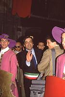 Palermo, feast of Saint Rosalia: the former mayor Leoluca Orlando.<br /> Palermo, festino di Santa Rosalia: l'ex sindaco Leoluca Orlando