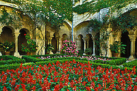Courtyard and gardens of St. Paul of St. Remy de Provence, France