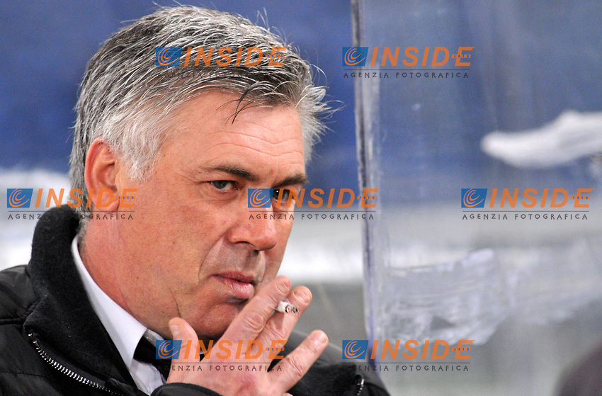 L'allenatore del Milan Carlo Ancelotti<br /> Roma 1/2/2009 Stadio &quot;Olimpico&quot; <br /> Campionato Italiano Serie A 2008/2009 <br /> Lazio Milan <br /> Author Massimo Oliva/Inside