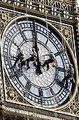 London's landmark Big Ben is being repaired and cleaned until it is due to resume its service again in September 2007. Four window cleaners abseiled along the eastern clockface to commence cleaning procedures.