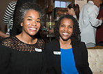 WATERTOWN, CT-042518JS25- Krista Holley of Waterbury and Renee Young, Community Impact Manager for the United Way of Greater Waterbury, at the Save Girls on F.Y.E.R. organization's fifth anniversary celebration held at Old Platform 6 in Watertown. <br /> Jim Shannon Republican American