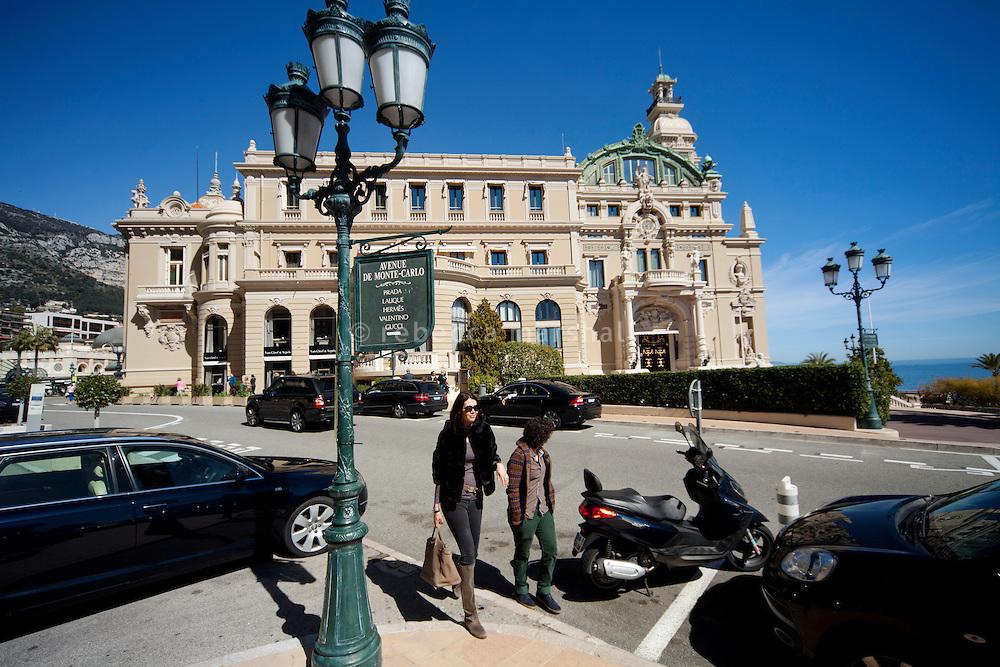 Avenue de Monte Carlo looking towards the Casino de Monte Carlo, Monte Carlo, Monaco, 21 March 2013