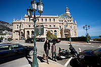 Avenue de Monte Carlo looking towards the Casino de Monte Carlo, Monte Carlo, Monaco, 21 March 2013