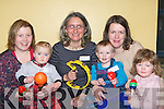 Mums and tots who attend the KDYS Music Tots club where toddlers enjoy the Educational and Fun music has in the Killarney KDYS l-r: Majella and Kate Fleming Killarney, Ruti Lachs KDYS, Ella, Emma and Aideen Galvin Firies..