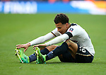 Tottenham's Dele Alli looks on dejected at the final whistle during the FA Cup Semi Final match at Wembley Stadium, London. Picture date: April 22nd, 2017. Pic credit should read: David Klein/Sportimage