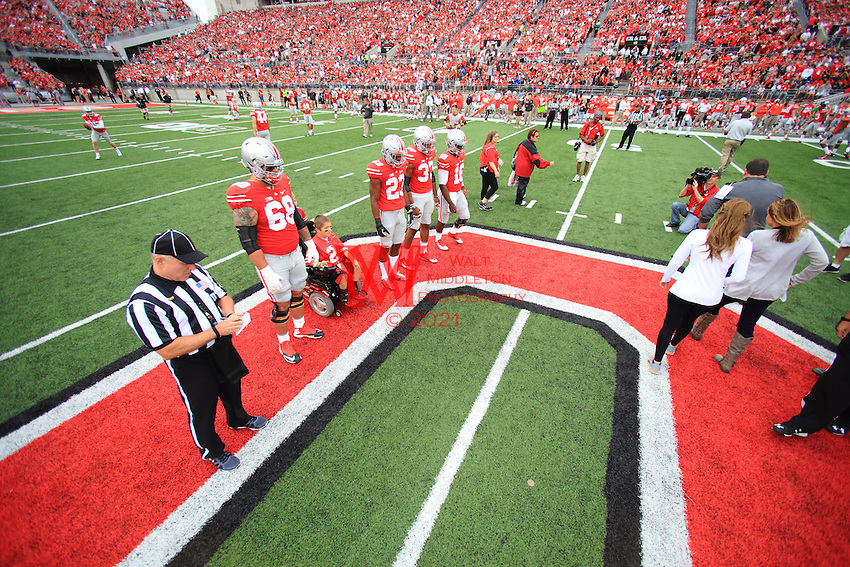 The Ohio State University Football team defeat Western Michigan University, 38-12. Columbus, OH. September 26, 2015<br /> Photo by; Walt Middleton