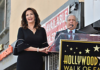 Lynda Carter &amp; Leslie Moonves at the Hollywood Walk of Fame Star Ceremony honoring TV's &quot;Wonder Woman&quot; star Lynda Carter on Hollywood Boulevard, Los Angeles, USA 03 April 2018<br /> Picture: Paul Smith/Featureflash/SilverHub 0208 004 5359 sales@silverhubmedia.com