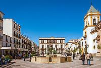 Spanien, Andalusien, Provinz Málaga, Ronda: Plaza del Socorro | Spain, Andalusia, Province Málaga, Ronda: Plaza del Socorro