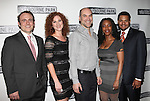 Richard Thieriot, Carly Street, Greg Stuhr, April Yvette Thompson & Brandon J. Dirden.attending the Broadway Opening Night Performance After Party for 'Clybourne Park' at Gotham Hall in New York City on 4/19/2012