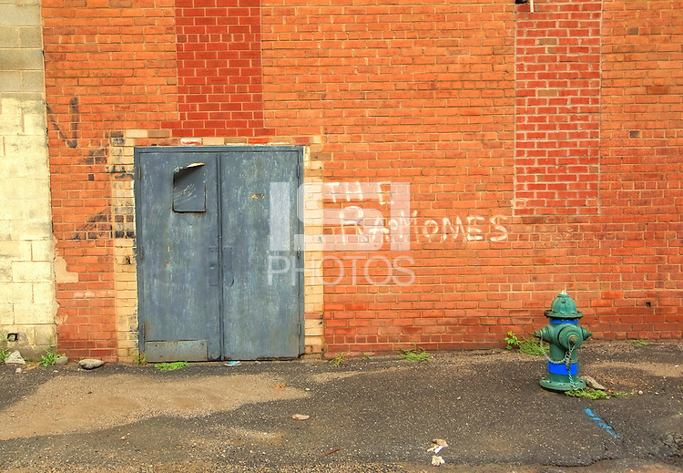 Washington D.C. - October 1, 2016: Rear of Ziegrieds Night Club on Water Street. Buzzards Point area in Southwest Washington D.C. cleared for construction of the new soccer stadium for D.C. United scheduled to open in 2018.