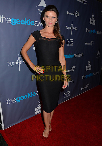 Danielle Vasinova<br /> The first annual Geekie Awards at The Avalon Hollywood in Hollywood, CA., USA.  <br /> August 18th, 2013<br /> full length black sheer dress hand on hip<br /> CAP/ADM/BT<br /> ©Birdie Thompson/AdMedia/Capital Pictures