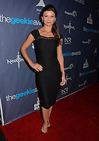 Danielle Vasinova<br /> The first annual Geekie Awards at The Avalon Hollywood in Hollywood, CA., USA.  <br /> August 18th, 2013<br /> full length black sheer dress hand on hip<br /> CAP/ADM/BT<br /> &copy;Birdie Thompson/AdMedia/Capital Pictures