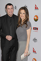 LOS ANGELES, CA - JANUARY 12: John Travolta and Kelly Preston attend the 2013 G'Day USA Black Tie Gala at JW Marriott Los Angeles at L.A. LIVE on January 12, 2013 in Los Angeles, California.PAP0101387.G'Day USA Black Tie Gala PAP0101387.G'Day USA Black Tie Gala
