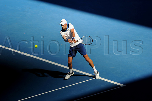 18th January 2018, Melbourne Centre, Melbourne, Australia; Australian Open Tennis;  Novak Djokovic