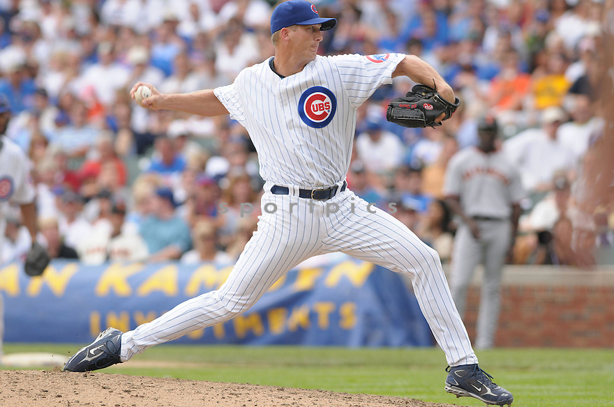 BOB HOWRY, of the Chicago Cubs , in action during the Cubs  game against the San Francisco Giants  on July 12, 2008 in Chicago . The Cubs won  game 8-7.