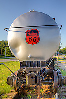 Vintage railcar at the Route 66 Village in Tulsa Oklahoma.