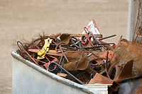 Scrap metal on a farm<br /> &copy;Tim Scrivener Photographer 07850 303986<br />      ....Covering Agriculture In The UK....