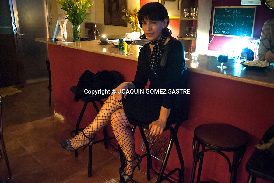 A woman during one of the Saturday night milongas in the association of friends of tango<br />  PHOTO &copy; JOAQUIN GOMEZ  SASTRE