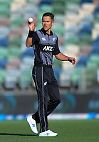 New Zealand's Trent Boult prepares to bowl during the 4th Twenty20 International cricket match between NZ Black Caps and England at McLean Park in Napier, New Zealand on Friday, 8 November 2019. Photo: Dave Lintott / lintottphoto.co.nz