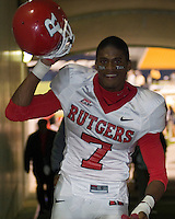 21 October 2006: Rutgers wide receiver Tiquan Underwood..The Rutgers Scarlet Knights defeated the Pitt Panthers 20-10 on October 21, 2006 at Heinz Field, Pittsburgh, Pennsylvania.