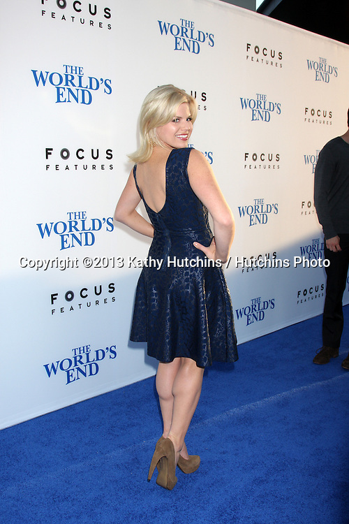 """LOS ANGELES - AUG 21:  Megan Hilty at """"The World's End"""" Premiere at the ArcLight Hollywood Theaters on August 21, 2013 in Los Angeles, CA"""