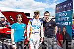 Mary Beth Hourigan and Conor Buckley from Portwest with Michael Fassbender at the Rally of the Lakes on Sunday