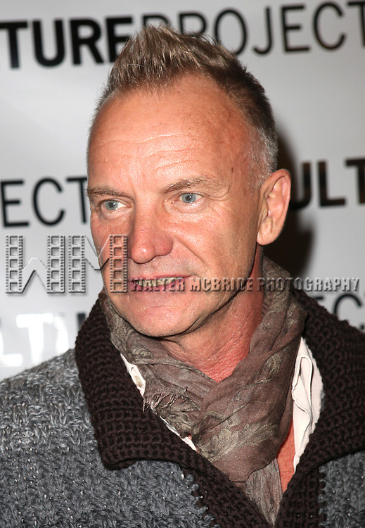 Sting attending the after Party for 10th Anniversary Production of 'The Exonerated' at the Culture Project in New York City on 9/19/2012.