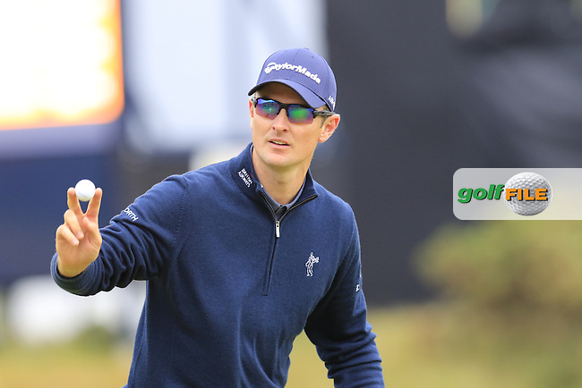 Justin Rose (ENG) on the 17th green during Monday's Final Round of the 144th Open Championship, St Andrews Old Course, St Andrews, Fife, Scotland. 20/07/2015.<br /> Picture Eoin Clarke, www.golffile.ie