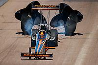 Feb 25, 2018; Chandler, AZ, USA; NHRA top fuel driver Mike Salinas during the Arizona Nationals at Wild Horse Pass Motorsports Park. Mandatory Credit: Mark J. Rebilas-USA TODAY Sports