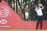 Christiaan Bezuidenhout (RSA) on the 17th tee during the final round of the WGC HSBC Champions, Sheshan Golf Club, Shanghai, China. 03/11/2019.<br /> Picture Fran Caffrey / Golffile.ie<br /> <br /> All photo usage must carry mandatory copyright credit (© Golffile | Fran Caffrey)