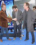 Hugh Laurie,Seth Rogen & Kiefer Sutherland at The Dreamworks Animation's Monsters VS. Aliens L.A. Premiere held at Gibson Ampitheatre in Universal City, California on March 22,2009                                                                     Copyright 2009 RockinExposures