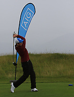 James O'Callaghan (Ballybunion) on the 1st tee during the Munster Final of the AIG Junior Cup at Tralee Golf Club, Tralee, Co Kerry. 13/08/2017<br /> Picture: Golffile | Thos Caffrey<br /> <br /> <br /> All photo usage must carry mandatory copyright credit     (&copy; Golffile | Thos Caffrey)