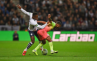 Preston North End's Darnell Fisher battles with Manchester City's Raheem Sterling<br /> <br /> Photographer Dave Howarth/CameraSport<br /> <br /> The Carabao Cup Third Round - Preston North End v Manchester City - Tuesday 24th September 2019 - Deepdale Stadium - Preston<br />  <br /> World Copyright © 2019 CameraSport. All rights reserved. 43 Linden Ave. Countesthorpe. Leicester. England. LE8 5PG - Tel: +44 (0) 116 277 4147 - admin@camerasport.com - www.camerasport.com