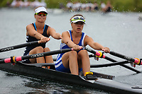 Race: 160  W.2x (Band 1)  Final<br /> <br /> Peterborough Summer Regatta 2018 - Saturday<br /> <br /> To purchase this photo, or to see pricing information for Prints and Downloads, click the blue 'Add to Cart' button at the top-right of the page.