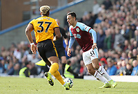 Burnley's Dwight McNeil under pressure from Wolverhampton Wanderers' Adama Traore<br /> <br /> Photographer Rich Linley/CameraSport<br /> <br /> The Premier League - Burnley v Wolverhampton Wanderers - Saturday 30th March 2019 - Turf Moor - Burnley<br /> <br /> World Copyright © 2019 CameraSport. All rights reserved. 43 Linden Ave. Countesthorpe. Leicester. England. LE8 5PG - Tel: +44 (0) 116 277 4147 - admin@camerasport.com - www.camerasport.com